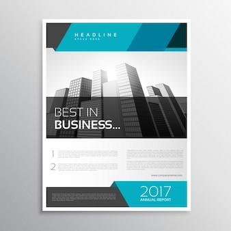 Molde de tampa do folheto de negócios moderno panfleto