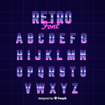 Molde decorativo do alfabeto retro stytle