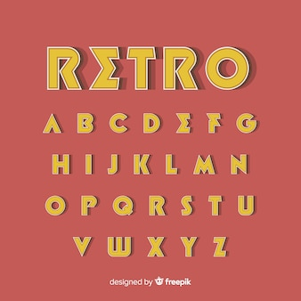 Molde decorativo do alfabeto retro stytle