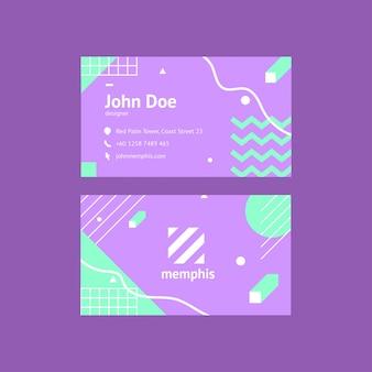 Molde do cartão conhecido molde do projeto de memphis