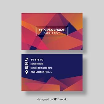 Molde do cartão do inclinação de abstracto