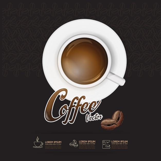 Molde do feijão de café