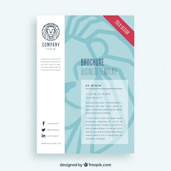 Molde do folheto de negócios com logotipo do leão