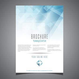 Molde do folheto do negócio com um design abstrato