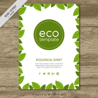 Molde do folheto eco