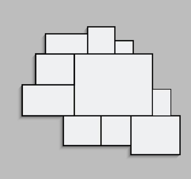 Molde do frame da foto da colagem da montagem. projeto do cartaz da montagem do fundo da imagem da imagem.