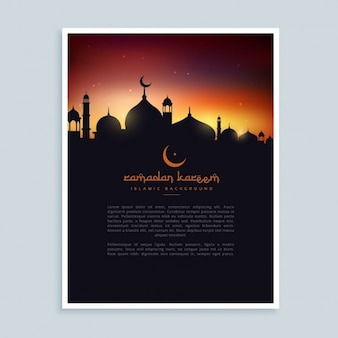 Molde do insecto cartaz ramadan kareem
