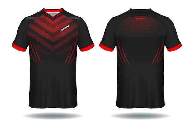 Molde do jérsei de futebol projeto do t-shirt do esporte.