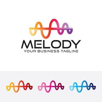 Molde do logotipo da arte da melodia