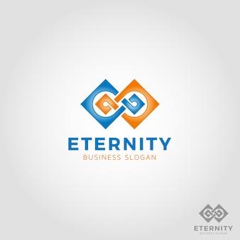 Molde do logotipo da infinidade quadrada