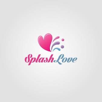 Molde do logotipo do amor splash