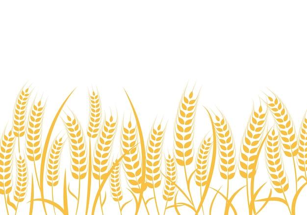 Molde do logotipo do trigo da agricultura