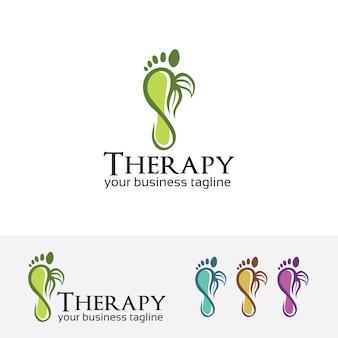 Molde do logotipo do vetor da terapia do pé