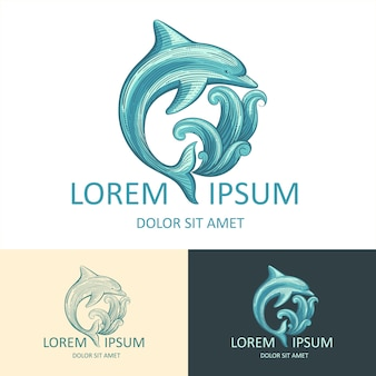 Molde do logotipo dolphin