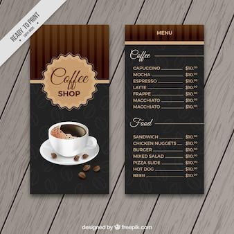 Molde do menu do café retro