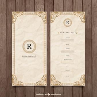 Molde do menu do ornamental