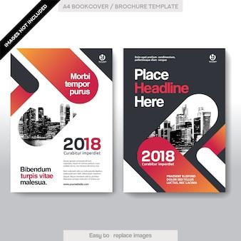 Molde do projeto da capa do livro do negócio do fundo da cidade