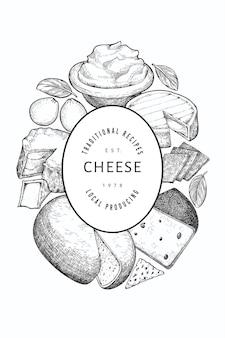 Molde do projeto do queijo.