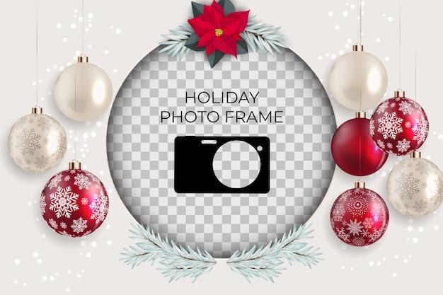 Molde do quadro da foto do feriado. feliz natal e feliz ano novo fundo.