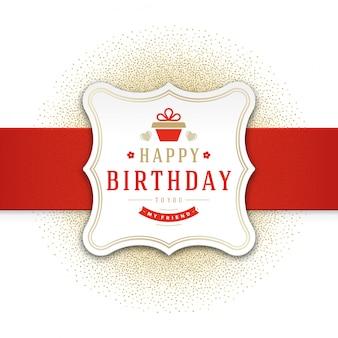 Molde do vetor do projeto de cartão do feliz aniversario.