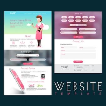 Molde do web site para consultas médicas