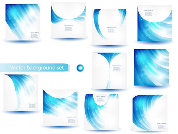 Molde e conjunto abstrato de vetores azuis