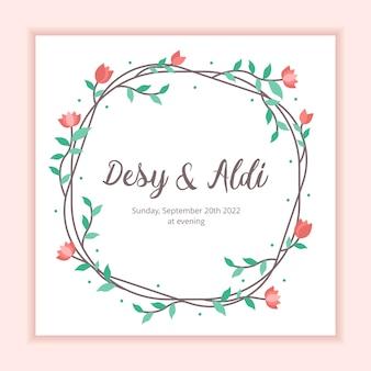 Molde floral do casamento do fundo do quadro para o convite