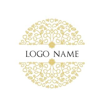 Molde floral logotipo