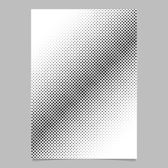 Molde geométrico do modelo do folheto do fundo quadrado do meio tom