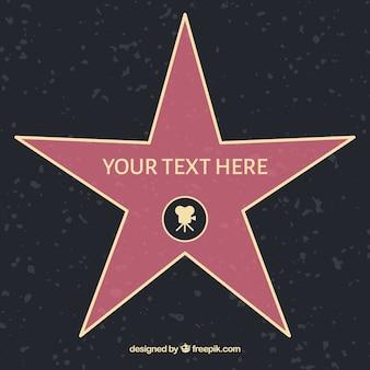 Molde plano da estrela da fama