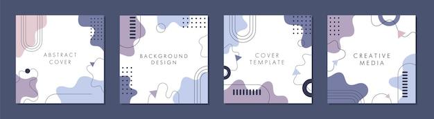 Molde quadrado abstrato moderno com conceito colorido.