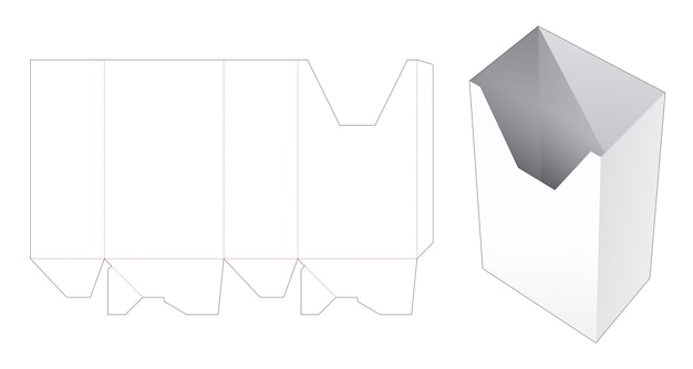 Molde recortado de caixa de papelão de papelaria
