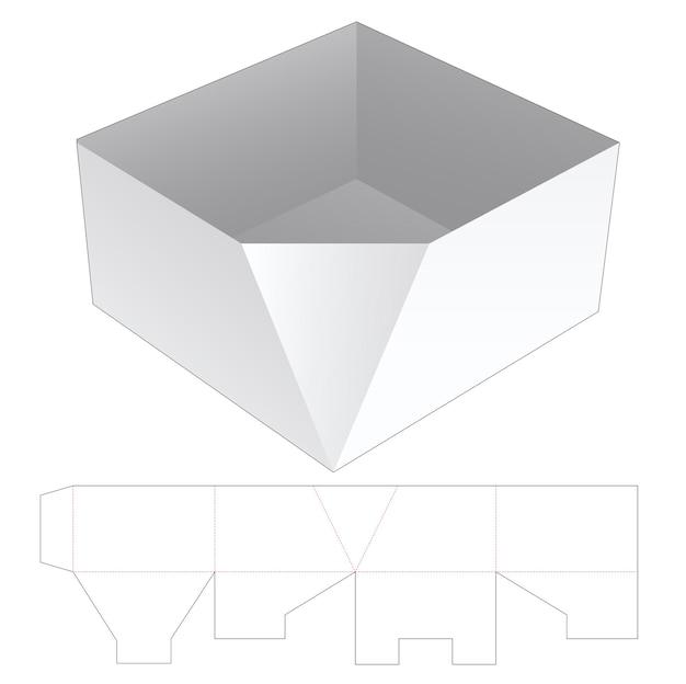Molde recortado do recipiente de uma bandeja chanfrada de papelão
