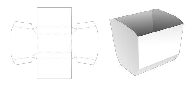 Molde recortado para embalagem de pipoca