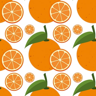 Molde sem emenda com laranjas frescas