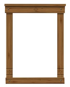 Moldura antiga de madeira da janela ou porta