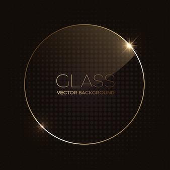 Moldura arredondada de vidro transparente