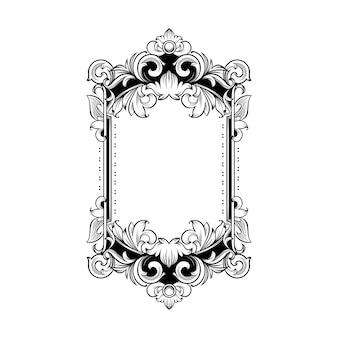 Moldura barroca deslumbrante com espaço em branco