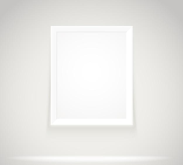 Moldura brilhante na parede. ilustração em vetor porta-retratos fotorrealistas