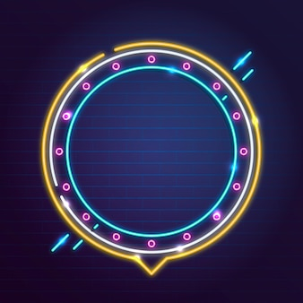 Moldura circular neon