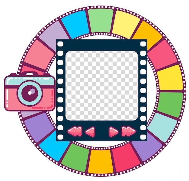 Moldura colorida bonita, visualizador de imagens, design de interface do usuário