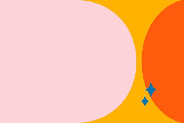 Moldura colorida em laranja e rosa Vetor grátis