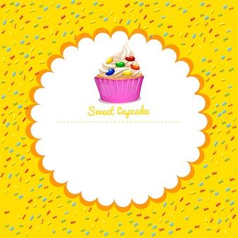 Moldura com cupcake