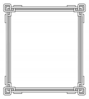 Moldura com elementos de decoração