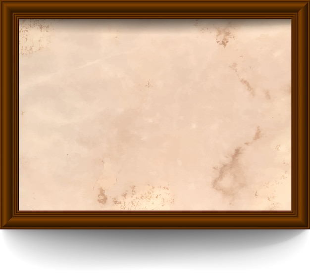 Moldura com papel envelhecido
