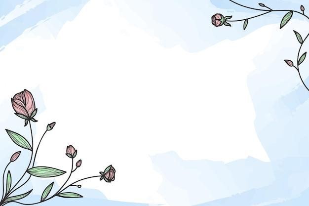 Moldura com rosas no canto