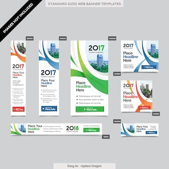 Moldura corporativa corporativa da bandeira da cidade em vários tamanhos. fácil de se adaptar ao brochure, relatório anual, revista, poster, publicidade corporativa, flyer, website.