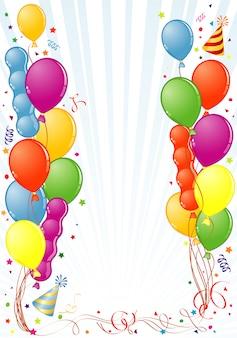 Moldura de aniversário com balão