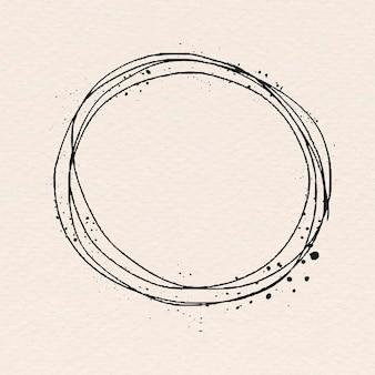 Moldura de arte de linha redonda mínima