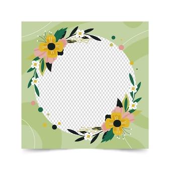 Moldura de avatar floral do facebook